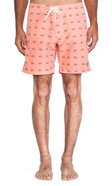 Ambsn Burgs Boardshort in Pink