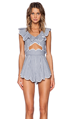Alice McCall Creatures Of The Moon Playsuit in Blue Stripe