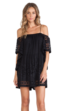 Alice McCall Camellia Playsuit in Jet Black