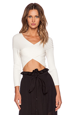 Alice McCall Follow Me Crop Top in Cream