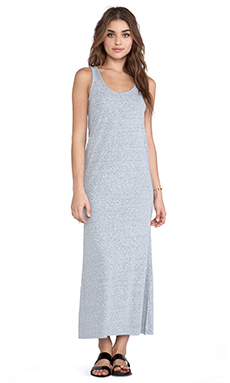 American Vintage Skanea Tank Top Maxi Dress in Zinc Melange