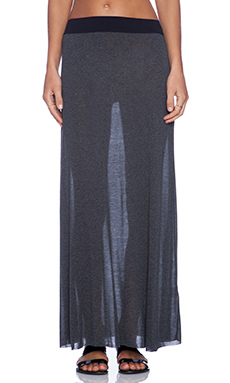 American Vintage Long Skirt in Charcoal Melange