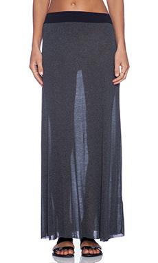 American Vintage Long Skirt in Charcoal Melange