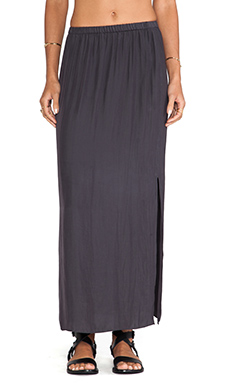 American Vintage Zachary Maxi Skirt in Carbon