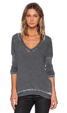 American Vintage Theodore Long Sleeve Shirt in Carbon Melange