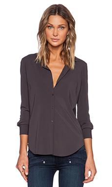 American Vintage Cody Long Sleeve Shirt in Carbon