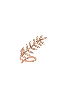 Alex Mika Feather Leaf Ring in Rose Gold