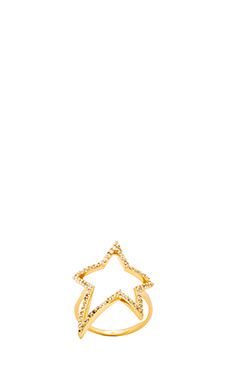 Alex Mika Star Ring in Gold