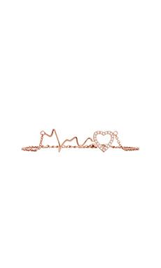 Alex Mika Heart Beat Bracelet in Rose Gold