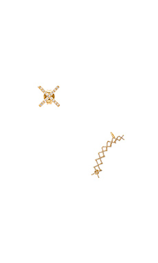 Alex Mika Criss Cross Ear Cuff in Gold