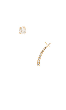 Alex Mika Circle Line Ear Cuff in Gold