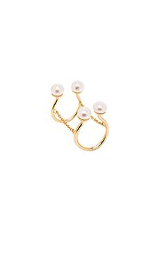 Alex Mika Quadru Pearl Ring in Gold