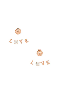 Alex Mika Love Ear Jacket in Rose Gold