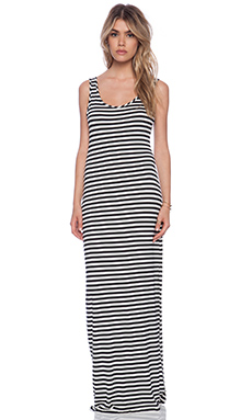 amour vert Zea Dress in Large Black & White Stripe