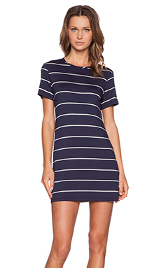 amour vert Brigette Dress in Navy Stripe