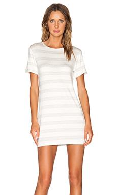 amour vert Brigette T-Shirt Dress in Heather Grey Stripe