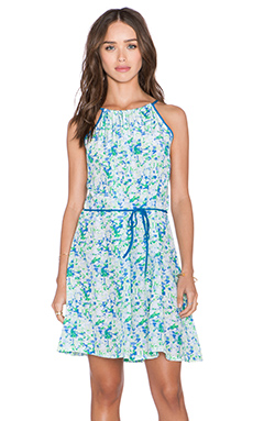 amour vert Orla Dress in Green Triangle Print