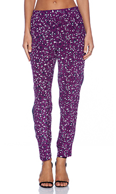 amour vert Paola Pant in Purple Leopard & Navy