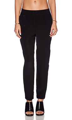 amour vert Paola Pant in Black & Ivory