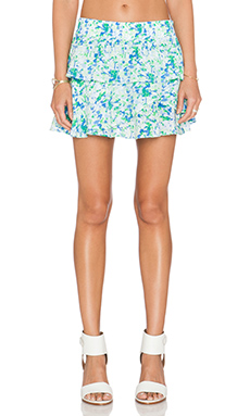 amour vert Nala Mini Skirt in Green Triangle Print