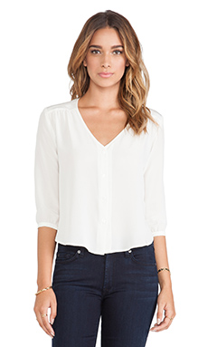 amour vert Candice Blouse in Ivory