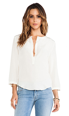 amour vert Kelly Blouse in Ivory