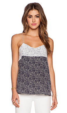 amour vert Denise Tank in Mosaic White & Mosaic Navy