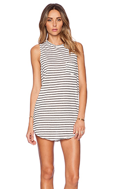 AMUSE SOCIETY Elle Dress in Black Sands Stripe