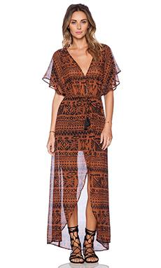 AMUSE SOCIETY Rain Dress in Henna