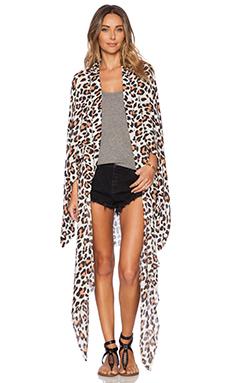 AMUSE SOCIETY Brooklyn Kimono in Leopard