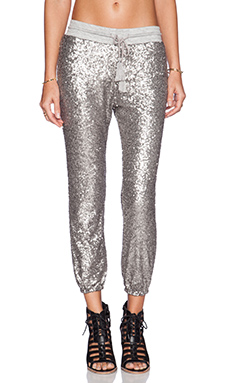 AMUSE SOCIETY Mason Pant in Metallic Silver