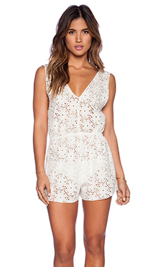 AMUSE SOCIETY Collette Romper in Casa Blanca