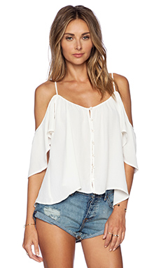 AMUSE SOCIETY Lena Woven Top in Casa Blanca