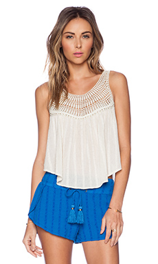 AMUSE SOCIETY Sloane Woven Top in Souk White