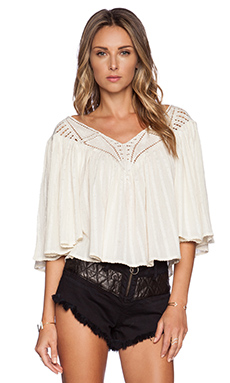 AMUSE SOCIETY Liv Woven Top in Souk White