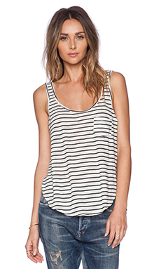AMUSE SOCIETY Harlow Knit Tank in Black Sands Stripe