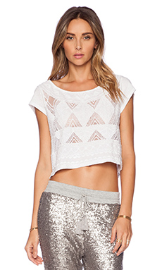 AMUSE SOCIETY Lana Knit Top in Optic White