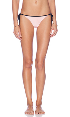 AMUSE SOCIETY Delray Color Blocked Cheeky Bikini Bottom in Marrakech Pink