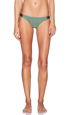 AMUSE SOCIETY Everly Solid Skimpy Bikini Bottoms in Faded Army