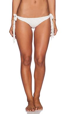 AMUSE SOCIETY Tangier Eyelet Cheeky Bikini Bottom in Casa Blanca