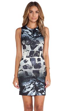 Angelys Balek Sun Etched Dress in Monochrome Stone