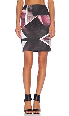 Angelys Balek Asymmetric Reflection Skirt in Purple