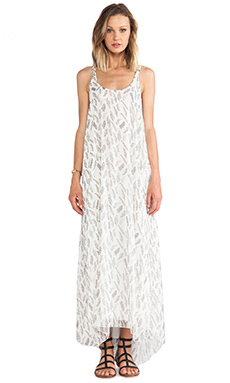 ANINE BING Maxi Dress in Feather Print