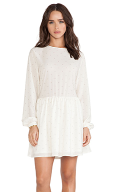 ANINE BING Loose Fit Dress in Ivory &  Ivory