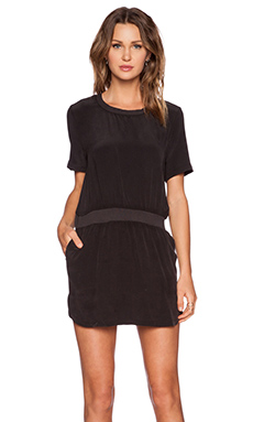 ANINE BING Short Sleeve Dress in Black