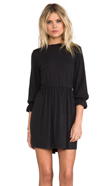 ANINE BING High Collar Dress in Charcoal