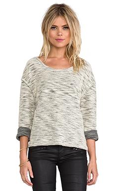 ANINE BING Textured Sweater in Bone Melange