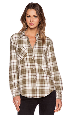 ANINE BING Plaid Shirt in Olive