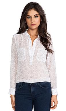 ANINE BING Floral Print Shirt in Lavender