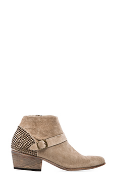 ANINE BING Studded Suede Bootie in Tan